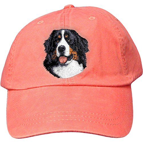 Cherrybrook Dog Breed Embroidered Adams Cotton Twill Caps - Coral - Bernese Mountain Dog