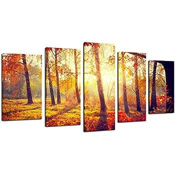 Amazon.com: Wieco Art - Extra Large Canvas Prints Wall Art The Misty ...