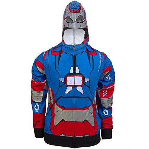 Iron Man - Patriot I Am Juvy Costume Zip Hoodie Sweatshirt juvy 4 Multi