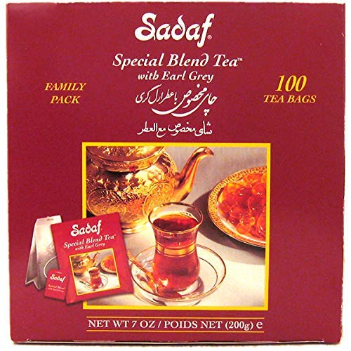 - Sadaf Special Blend Tea Earl Grey, 100-Count