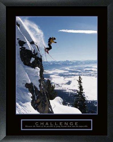 Challenge: Skier Art Print