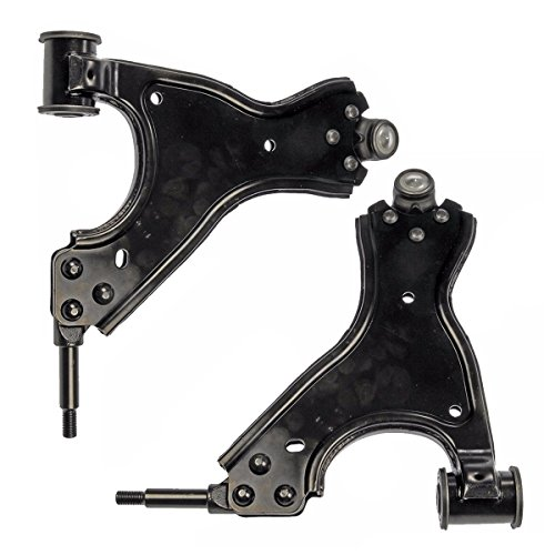 Detroit Axle - Both (2) Front Lower Driver & Passenger Side Control Arm and Ball Joint Assembly - 10-Year ()