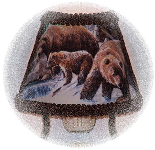 Grizzly Bear Woodland Lodge Cabin Fishermen's NIGHT LIGHT