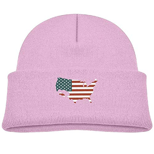 Usa Wool Jeep Cap - Beanie Hats Skull Caps Wool USA Jeep Flag Baby Soft Boys Girls Pink