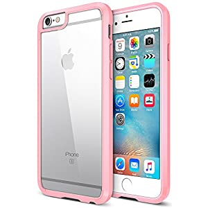 iPhone 6S Plus Case, Trianium [Clear Cushion] iPhone 6 Plus Clear Case Bumper (5.5 Inch)[Scratch Resistant] Shock-Absorbing Hard Back Panel For Apple iPhone 6/6S Plus (2014/2015) - Cotton Candy