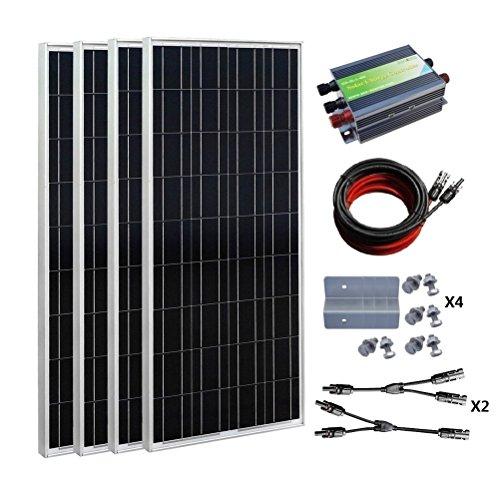 ECO-WORTHY 400 Watt Solar Panel Kit: 4pc 100W Solar Panel...