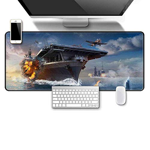 Oversized Mouse pad, Military war Keyboard pad, Padded Seam Mouse pad A 7003002mm ()