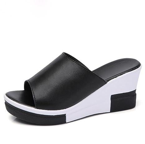pengweiPantofole estive con signore sandali freschi sandali freddi , 2 , US6 / EU36 / UK4 / CN36