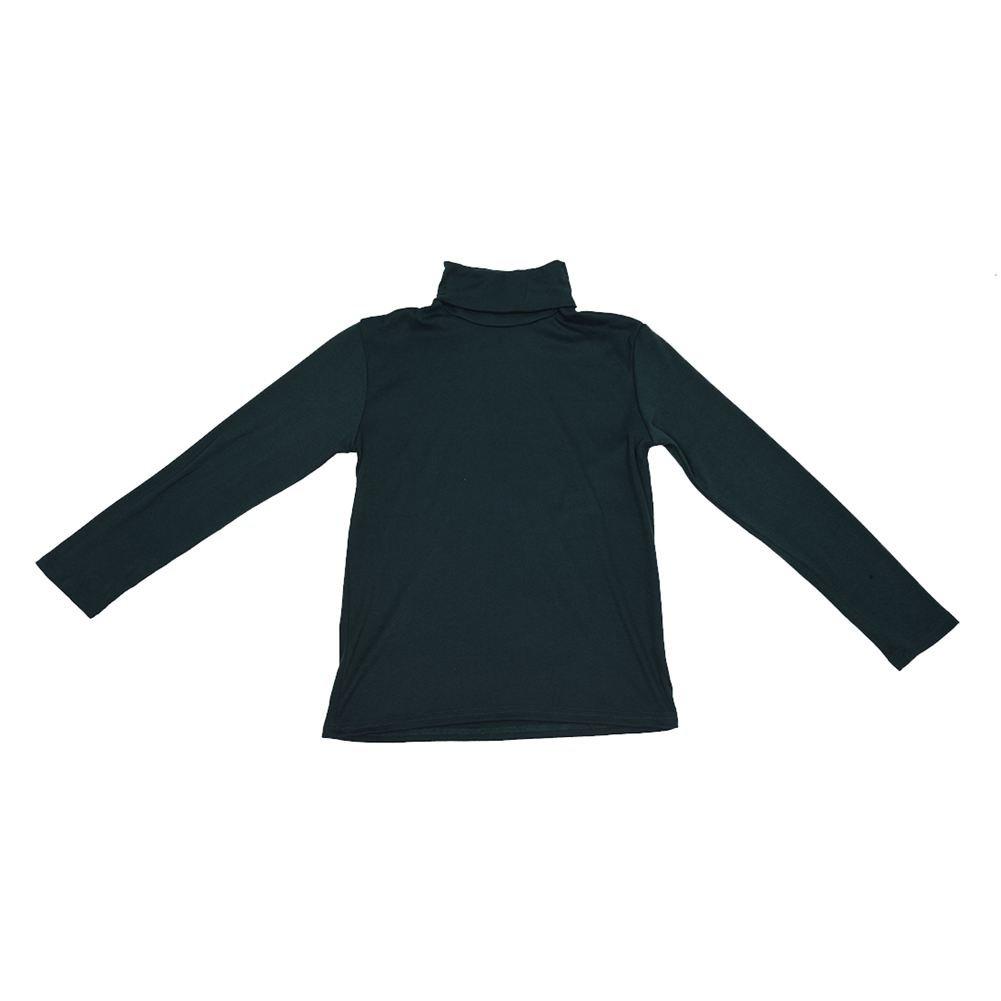 SODIAL(R) Moda para Hombre otono invierno de cuello alto sueter camisa patron puro Jersey verde oscuro - XL
