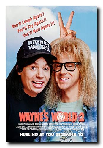 Wayne's World 2 Movie Poster 24x36 Inch Wall Art Portrait Print - Dana Carvey - Mike Myers