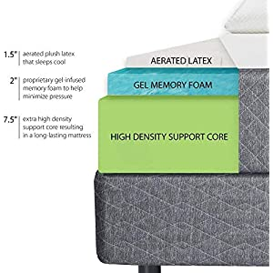 Ghostbed Mattress-Queen 11 Inch-Cooling Gel Memory Foam-Mattress in a Box-Most Advanced Adaptive Gel Memory Foam–Coolest…