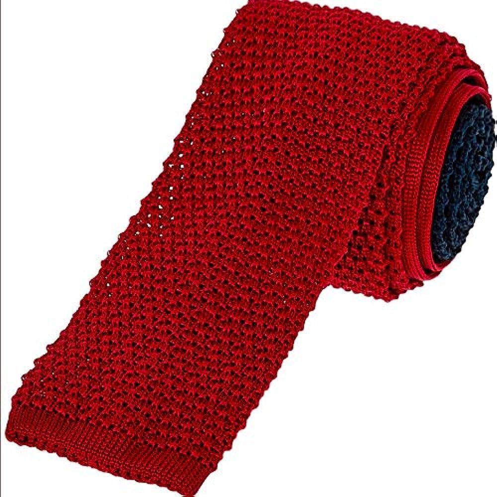 Duchamp Corbata de seda de punto azul marino y rojo: Amazon.es ...