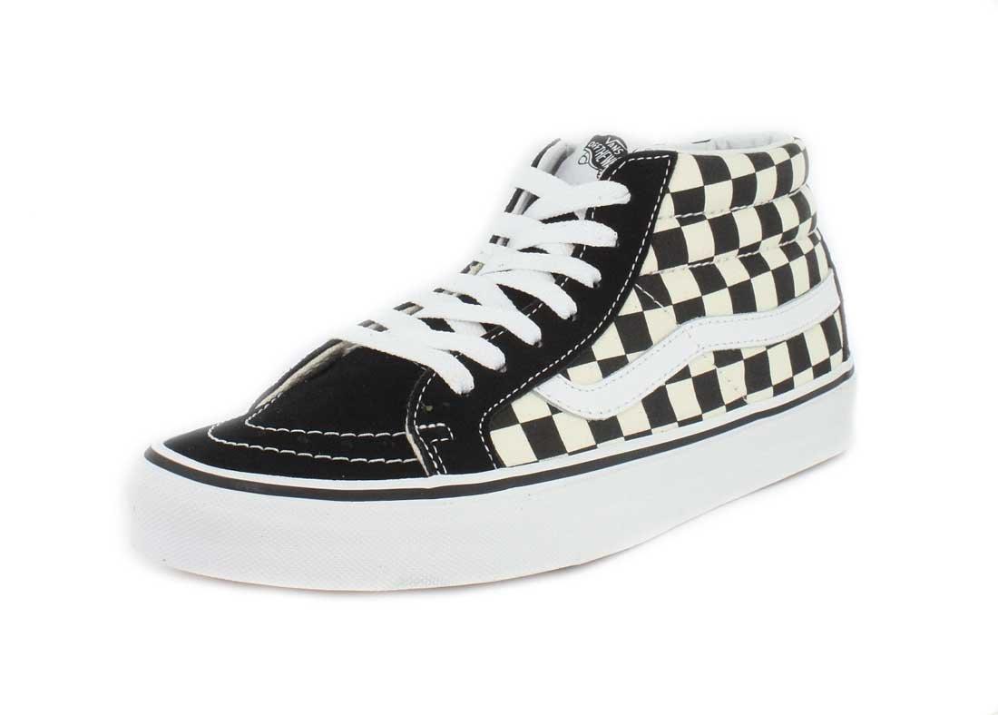 Vans Sk8-Mid Reissue Checkerboard/True White VN0A391FQXH Skate Shoe 9 B(M) US Women / 7.5 D(M) US Men Checkerboard/True White