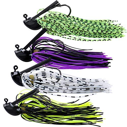 Sougayilang Bass Jig, Swim Jigs for Bass,2/5 oz Fishing Jig Lure (Best Jig For Skipping Docks)