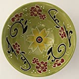 Yokohama Studio Hand Painted Olive Green Decorative Bowl
