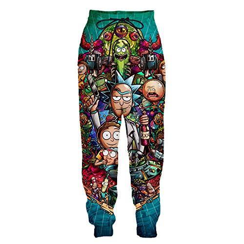 YX GIRL Ahegao Unisex 3D Printed Pants Causal Fashion Funny Pants