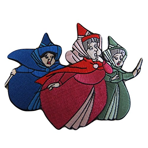 (Disney's Sleeping Beauty Movie Three Good Fairies Fiora, Fauna, and Merryweather Embroidered Patch (3 inches tall by 4 inches wide))