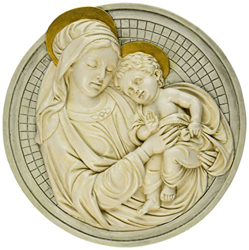 Design Toscano Madonna and Child Roundel Wall Sculpture -