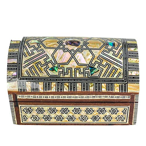 """Arts of Egypt- Elegant Egyptian Inlaid Mother of Pearl Jewelry Collectibles Coins Gift Trinket Box 6""""x 3.5""""x 3.5""""H from Arts of Egypt"""