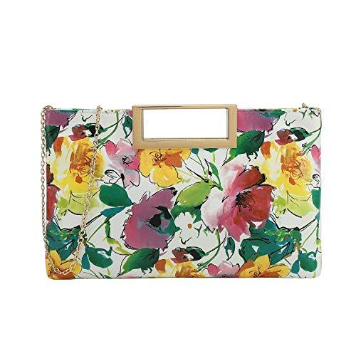 Charming Tailor Fashion PU Leather Handbag Stylish Women Convertible Clutch Purse (Floral)