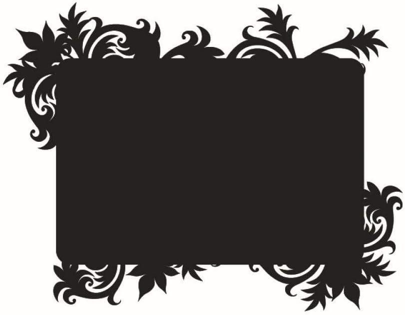 Viento europeo y americano decoración de la pared flor ratán pizarra pegatinas oficina sala de estar pegatinas de pared al por mayor a prueba de agua-negro