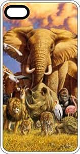 Noah's Ark Wildlife White Plastic Case for Apple iPhone 4 or iPhone 4s