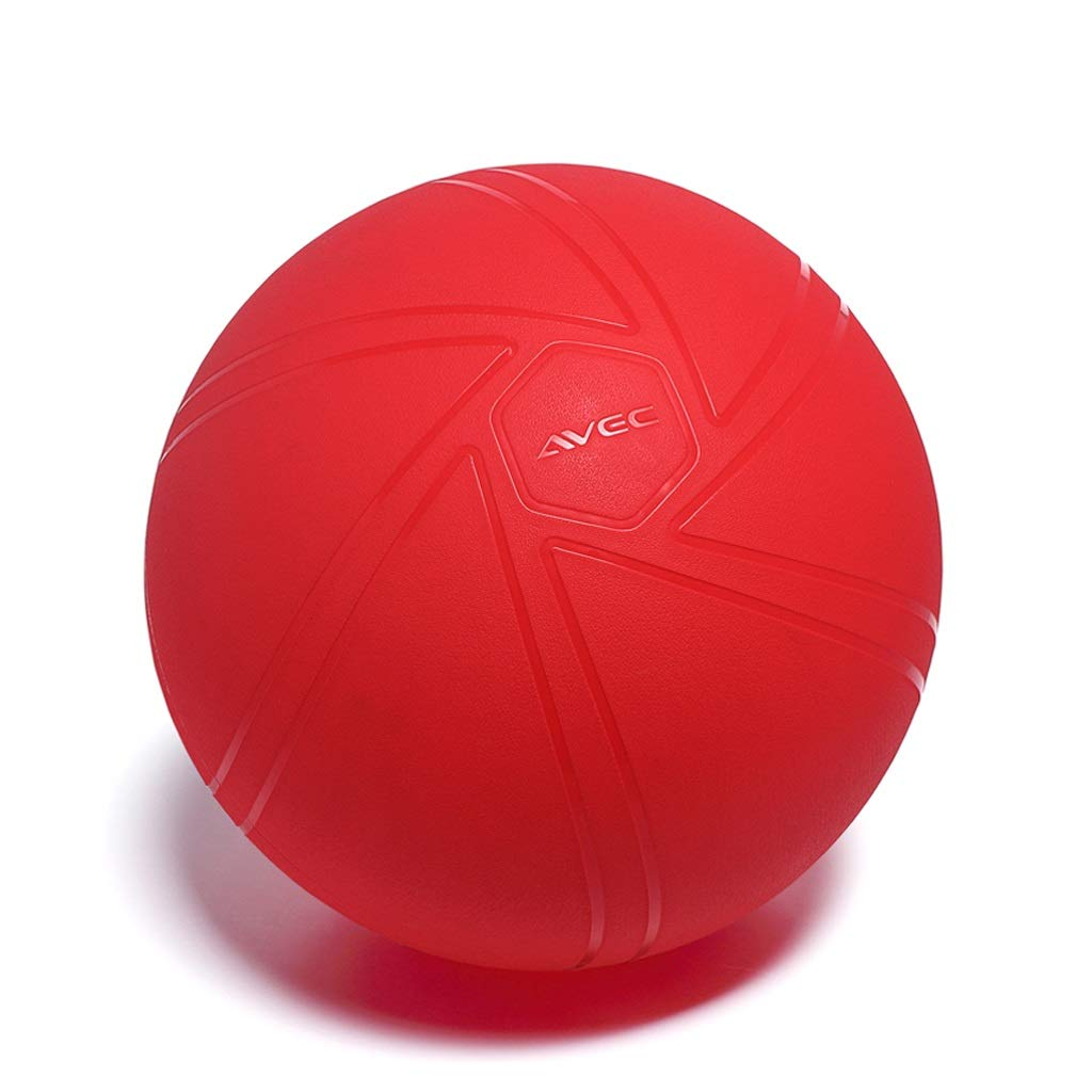 TangMengYun Yoga Ball Thickening Explosion-Proof Fitness Ball Chair Pregnant Women Midwifery Delivery Balance Weight Loss Ball (Color : Red, Size : 65cm)