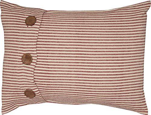 Piper Classics Homespun Red Ticking Stripe Standard Sham, 21