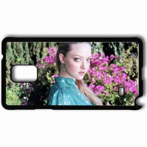 Personalized Samsung Note 4 Cell phone Case/Cover Skin Amanda Seyfried Black
