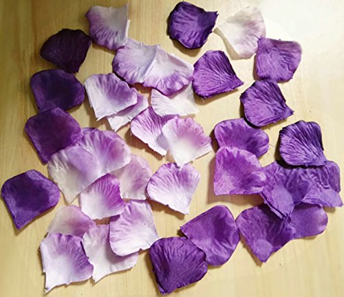 (Worldoor Pack of 600pc Mixed Color Rose Petals Purple,Lavender,White Wedding Centerpieces Party Decoration Confetti Bridal Shower Party)
