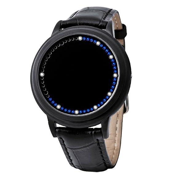 Nuevo diseño de la moda del reloj azul elegante híbrido de pantalla táctil LED con 60 ...