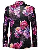 MOGU Mens Blazer Pink Floral Casual Large Size Slim Fit Suit Jacket