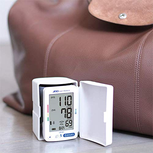 A&D Medical Wrist Blood Pressure Monitor with Large Display for Multiple Users (UB-543)
