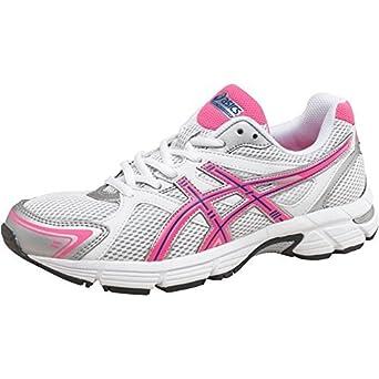 e41e9af8941f Womens Asics Gel Pursuit Neutral Running Shoes White Pink Blue Girls Ladies  (3 UK 3 EUR 35.5)  Amazon.co.uk  Clothing