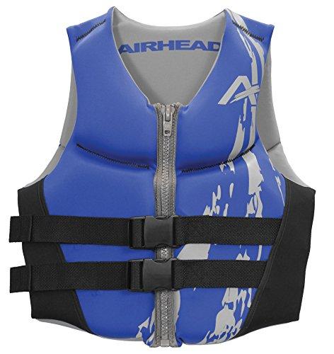 Child Neoprene Vest (AIRHEAD SWOOSH Kwik-Dry Neolite Flex Vest, Blue)