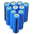 10PCS 3.7V 5000mAh 18650 Battery Rechargeable Batteries for LED Flashlight