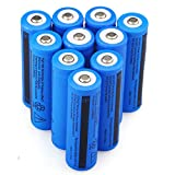 10PCS 3.7V 3000mAh 18650 Battery Rechargeable Batteries for LED Flashlight(Not AA NOT Flat Top)