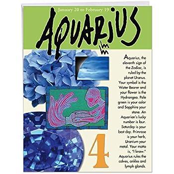 Amazon com : Big Happy Birthday Card - Pisces Zodiac Sign Gift