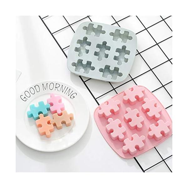 YZBear Confezione da 2 vaschette Ghiaccio in Silicone Lavabile in lavastoviglie Cassaforte per stampi per cubetti di… 3 spesavip