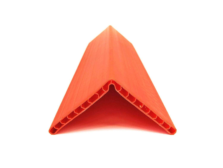 Sandax 1016.0200 Kantenschutzwinkel (Wabenstruktur) 190x190x19mm, L= 800mm, Orange Sandax®