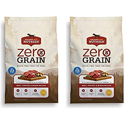 Rachael Ray Nutrish Zero Grain Natural Grain Free Dry Dog Food (2 Pack, Beef, Potato & Bison)