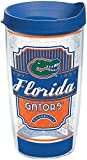 Tervis 1229142 Florida Gators Pregame Prep Tumbler with Wrap and Blue Lid 16oz, Clear