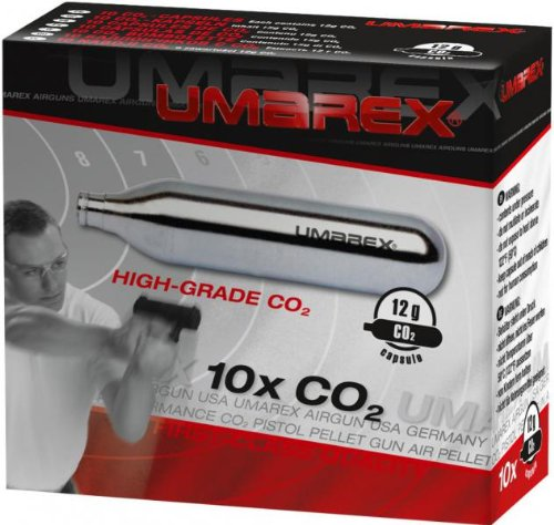 Caja de 10 bombonas co2 12gr. Umarex para pistolas y carabinas 4.1691