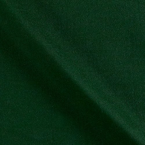 Carr Textile 12 oz Brushed Bull Denim Twill Green Fabric, Forest