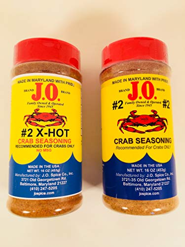- combo pack/bundle 16 oz #2 Crab Seasoning and 16 oz X-Hot Crab seasoning