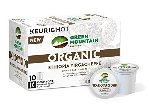 Green Mountain Coffee Coherent Ethiopia Yirgacheffe  (3.1 Pound Nett.), 10 Count, (Pack of 6)