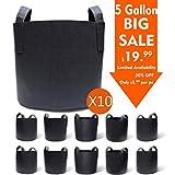 Best Grow Pots - Gardzen 10-Pack 5 Gallon Grow Bags, Aeration Fabric Review