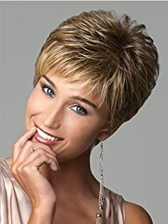 Meylee Pelucas Las pelucas de pelo corto las mujeres blancas mujeres sintéticas pelucas naturales pelucas