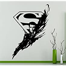 Superman Logo Wall Decal Superhero Sticker Comics Art Home Decoration Any Room Waterproof Sticker (7su)