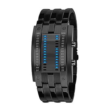 Digital LED pulsera reloj de pulsera, moda unisex LED reloj de pulsera resistente al agua deporte par reloj de pulsera, Black big size: Amazon.es: Deportes ...